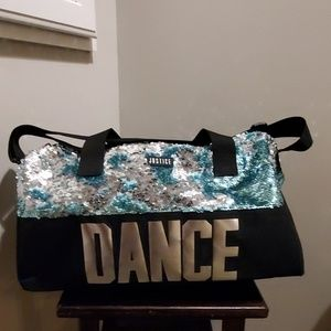 Justice sequin Dance duffle black/turquoise